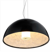 Free Shipping Modern Pendant Lamp LED Lamp 1 Light D40 Dome Shape White Or Black DinningRoom