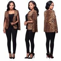 특별 디자인 2016 인기 표범 재킷 참신 캐주얼 재킷 섹시한 여성 정장 A8085