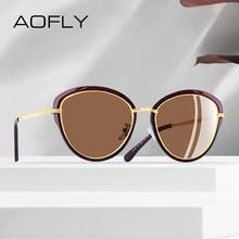 AOFLY ออกแบบแบรนด์ 2020 แว่นตากันแดด Polarized ผู้หญิงแฟชั่นสุภาพสตรีสุภาพสตรี CAT EYE แว่นตากันแดด VINTAGE แว่นตา UV400 A107