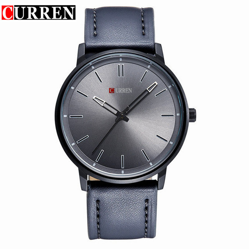 Curren new business watch men watches top brand luxury famous wristwatch male clock leather for Curren watches