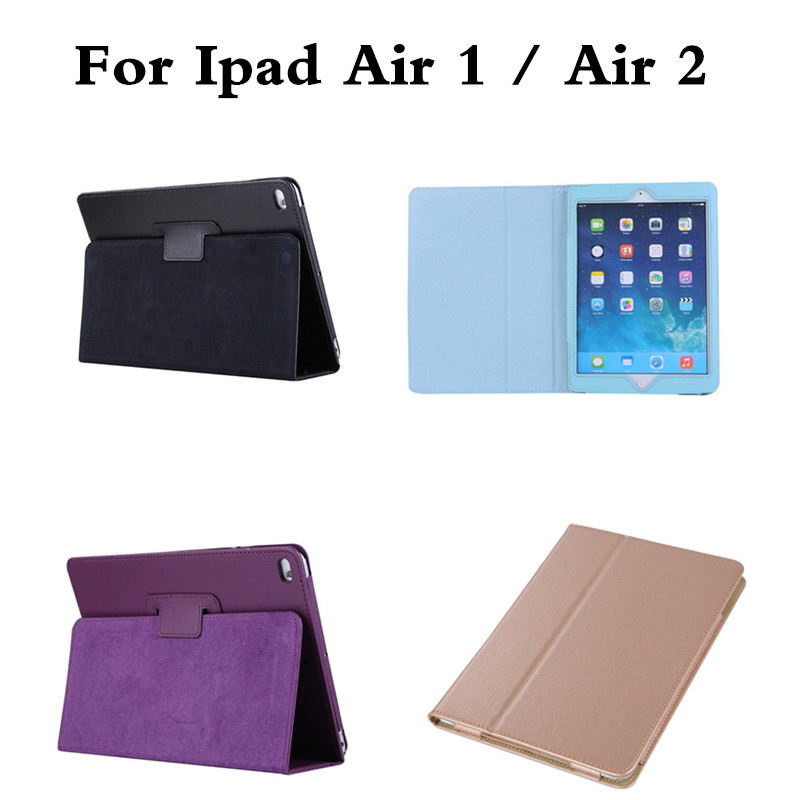 Flip PU Leather for Apple ipad Air 1 ipad5 / Air 2 ipad6 Coque Cover Smart Stand Auto Sleep /Wake UP Tablet Litchi Style Case