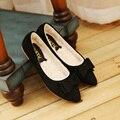 Новый 2016 зима лук женщины обувь одного плоский каблук мягкая дно балета работа квартиры женской обуви мокасины размер 35-40 бесплатно корабль