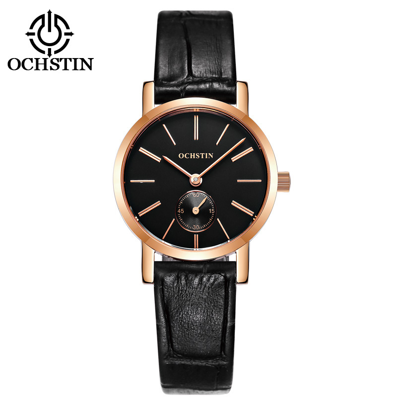 OCHSTIN New Leather Bracelet Watch Women Fashion Casual Ladies Clock Women Watch Dress Quartz Wristwatches Montre Femme saat
