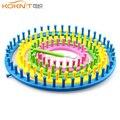 Вязальный станок KOKNIT, 1 цвет, Круглая Шапочка, вязальный станок с иглой, набор для вязания «сделай сам», инструмент для вышивки, 4 размера, 14 см...