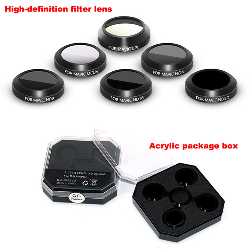 MCUV CPL ND4 ND8 ND16 ND32 HD Thin Camera Lens Filters For DJI MAVIC Pro Drone
