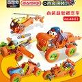 Bsq 5-shape-changing 123 unids ladrillos bloques de construcción de dibujos animados suave scooby doo mystery bus de máquina compatible con legoe