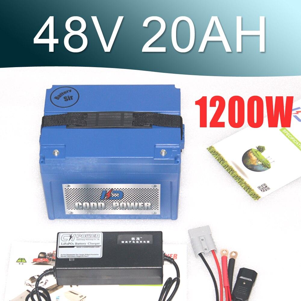 1000W E Bike Ebike Battery Pack 48V 20AH Lithium Ion Battery