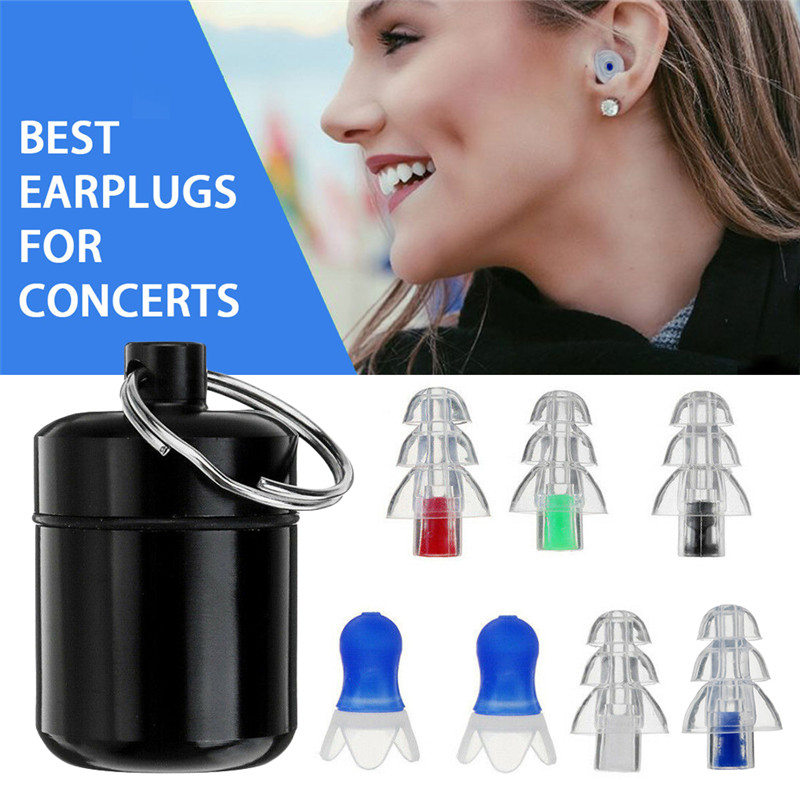 1 Pair Soft Silicone Ear Plug Noise Reduction Foam Earplug for Anti-Interferen Noise Insulation Prevention Earplugs for Sleep 1