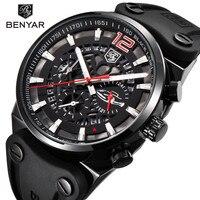 2019 BENYAR Brand Chronograph Men Watches Reloj Hombre Military Waterproof Quartz Black Watch Relogio Masculino Zegarek Meski