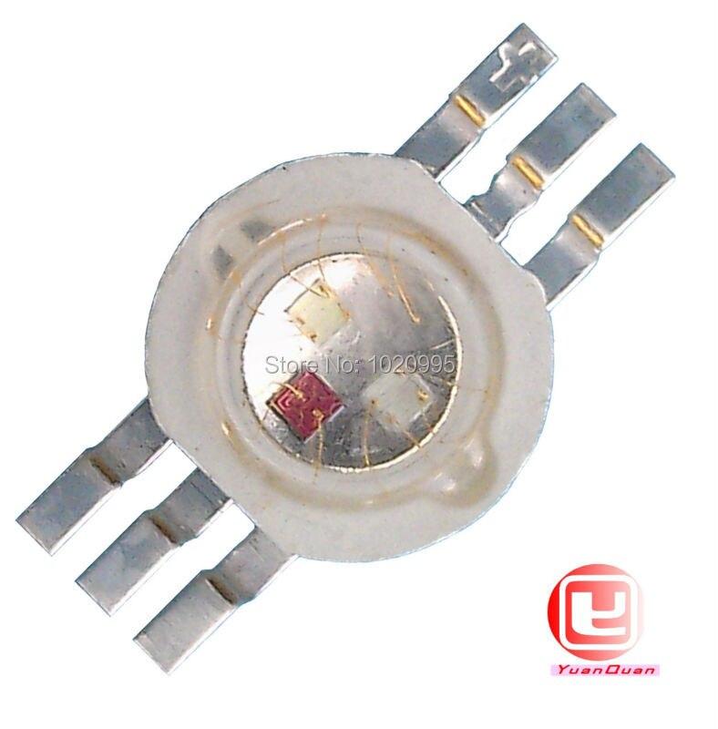 6 pin 3 Вт RGB LED чип шарик красный/синий/зеленый полноцветный шесть стопы энергосбережения высокой мощности LED Бесплатная доставка