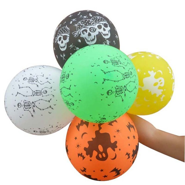 100pcspack colorful halloween decoration inflatable balloons for holiday game birthday party supplies balloon party