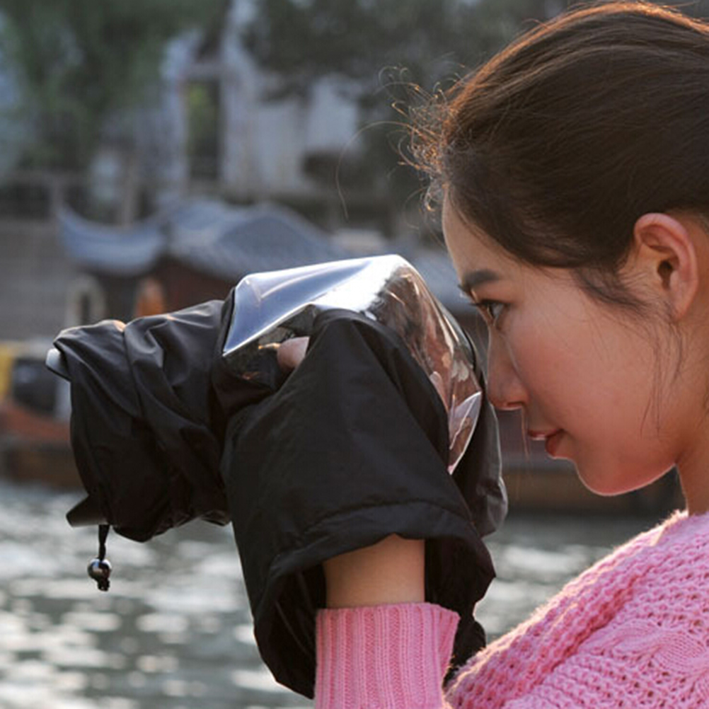 Cámara profesional impermeable de la lluvia cubierta de la bolsa protectora para cámara Nikon Canon DSLR cámaras