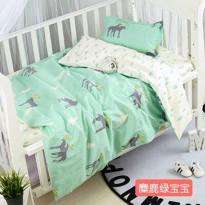 Avec remplissage! 100% coton enfant bébé enfants ensemble de literie produit infantile lit draps de bande dessinée, couette/feuille/oreiller,