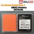 En stock 100% nuevo bm45 3020 mah para reemplazar li-poli batería de xiaomi redmi note 2 teléfono móvil inteligente + envío gratis