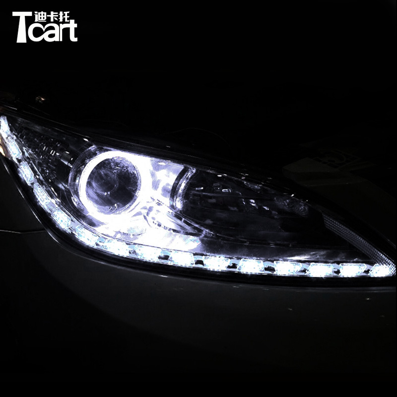 Tcart LED DRL Car for For Hyundai IX35 DRL FOR Hyundai Daytime running light lamp white+yellow color Free shipping