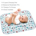 4 Sizes Cartoon Baby Changing Pads Infant Bedding Top Sheet Waterproof Breathable Environmental TPU Urine Mats Big Size Cover