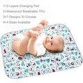 4 tamanhos dos desenhos animados mudança do bebê almofadas infantil roupa de cama de alto folha à prova d ' água TPU Mats urina ambiental respirável Big Size capa