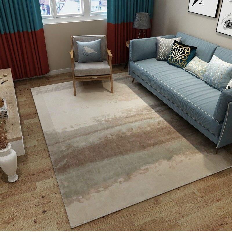 Post-moderne Art tapis décor à la maison chambre tapis canapé Table basse tapis de sol tapis d'étude douce Rectangle tapis nordiques tapis de chevet - 4