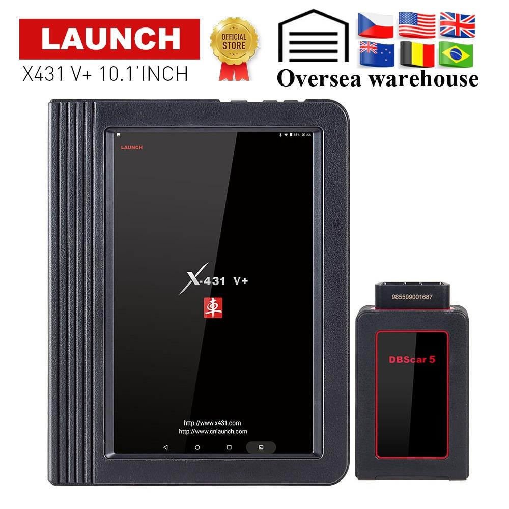 Lanzamiento de X431 V Plus 10,1 pulgadas Wifi/Bluetooth Auto herramienta de diagnóstico con 2 año de actualización gratuita X431 V escáner coche como X431 Pro3