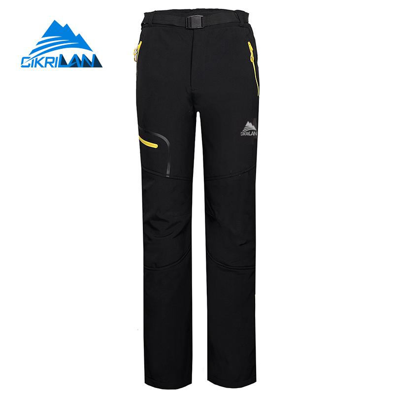Mens Windproof Water Resistant Pantalones Hombre Sport Hiking Climbing Softshell Outdoor Pants Men Trekking Camping Ski Trousers