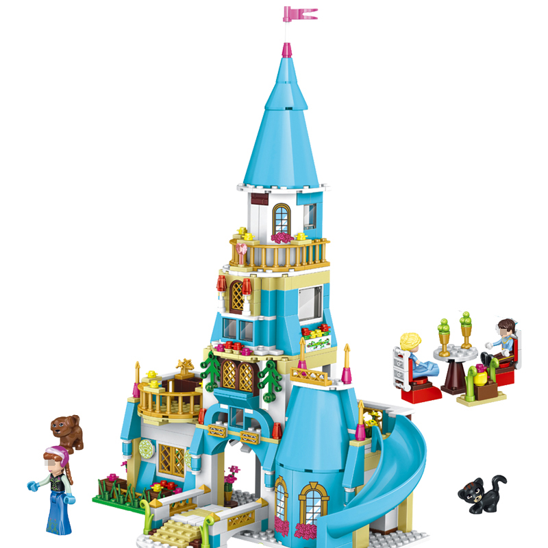 37008 Girl Friends Princess Anna and The Princess Castle Model Building Kits Blocks Bricks Set Girl Toys Compatible Legoe Friend