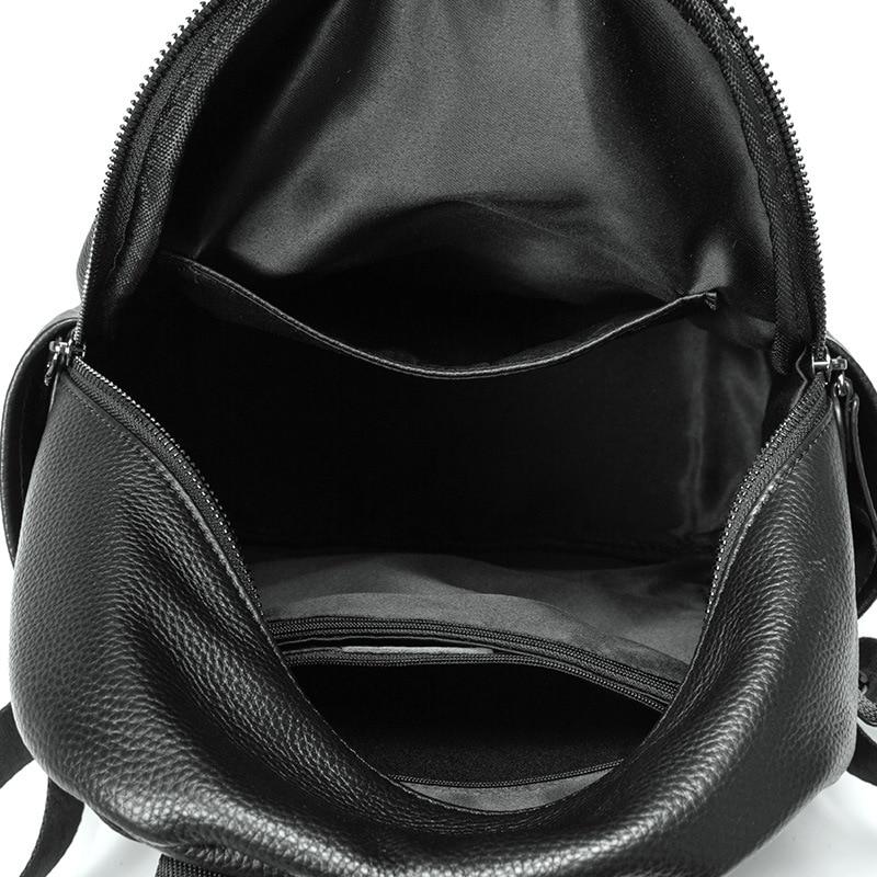Маленький женский черный рюкзак для путешествий милые дизайнерские рюкзаки женские высококачественные школьные сумки для девочек подростков водонепроницаемый рюкзак - 5