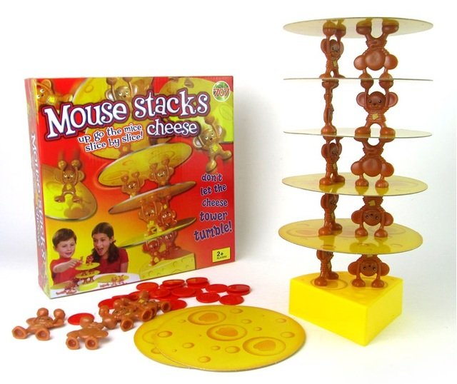 free shipping 1piece funny mouse stack cheese balancing toys game