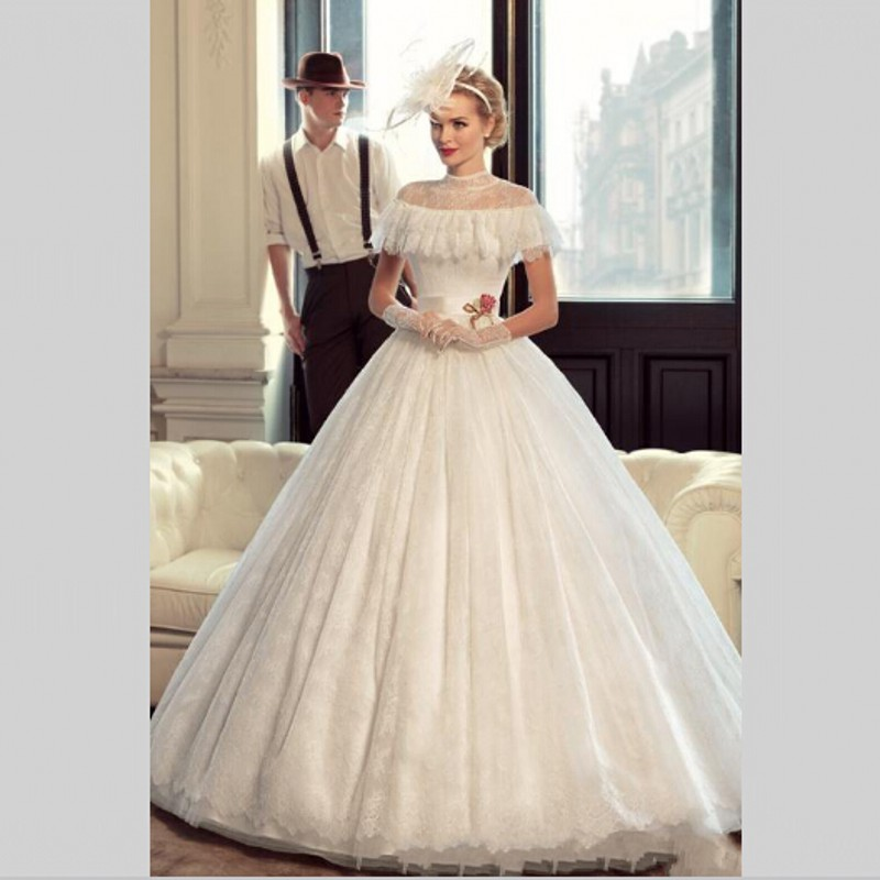 Nvestido De Noiva Princesa Luxo Cheap Bridal Dress Vintage Lace