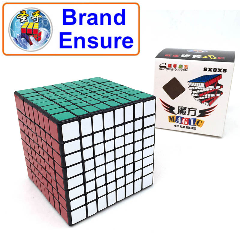 SHENGSHOU 7092A 8x8x8 Magic Cube 84mm PVC Sticker Top Professional Smooth Rubiks Cube Adult Children Education Toys Gifts MF802
