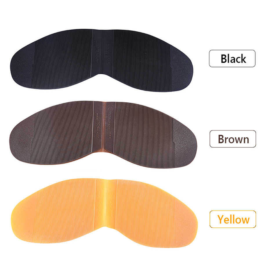 Sunvo Anti Slip Buitenzolen Rubber Schoenzool Voor Lederen Business Schoenen Reparatie Voorvoet Pads Zolen Bodems Grip Zool Insert Pad