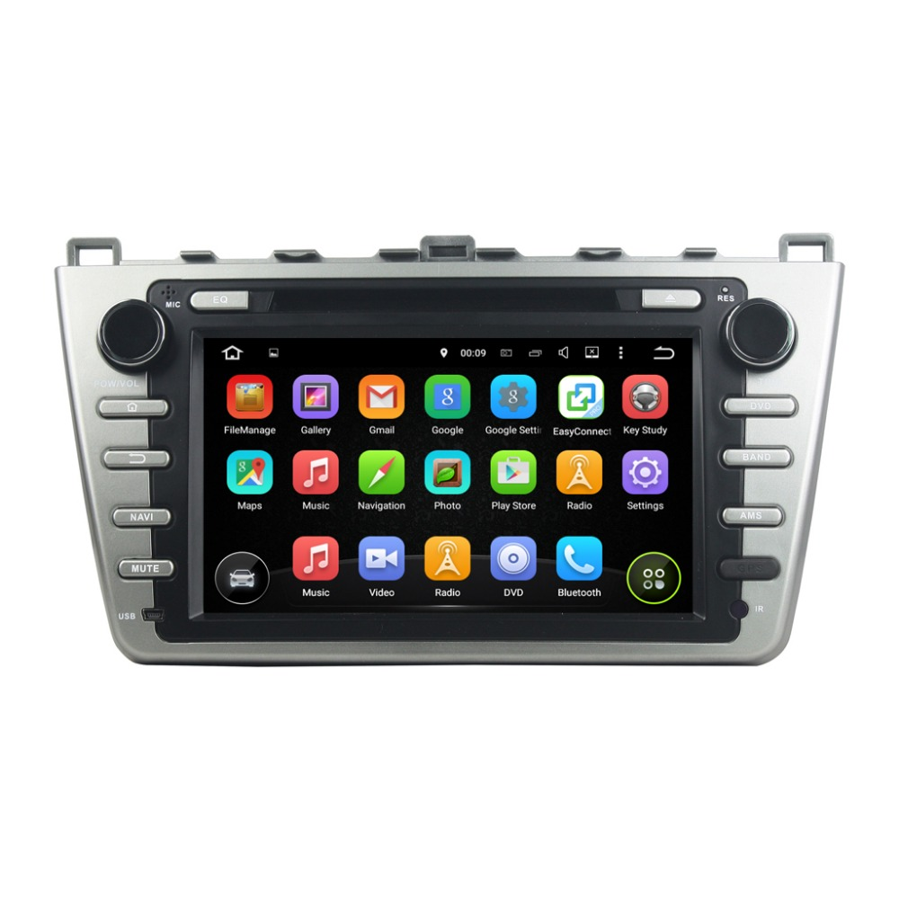 1024*600 Android 5.1 car DVD GPS apply to Mazda 6 Ruiyi Ultra 2008 2009 2010 2011 2012 Autoradio Multimedia Audio Stereo