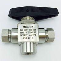 Нержавеющая сталь 316L 1/4 Мама NPT 6000 PSI CNG 3 (три) способ шаровой клапан для заправочная Колонка СПГ