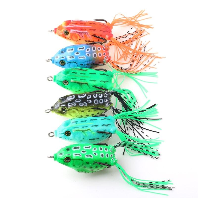 6 colores 6 unids SUAVE forja señuelo (FO003) 55 mm señuelo suave - Pescando