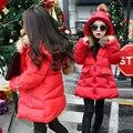Abajo chaqueta chaquetas de invierno niñas espesantes niños muchacha de la capa niños ropa abrigos parka coreana de 4 ~ 14 años de la moda de cumpleaños MC51