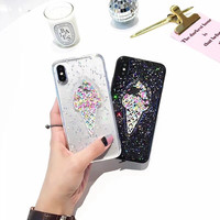 NEW Ultra Thin TPU 3D Colorful ICE Cream Soft Mobile Phone Cases For IPhone6 6S 6Plus
