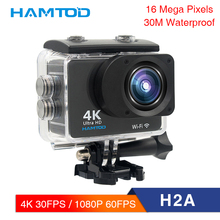 HAMTOD H2A 4K WiFi Action Camera 2.0 inch LCD Screen 1080P HD Diving Waterproof mini Camcorder Sports Cameras 170 Degree Angle