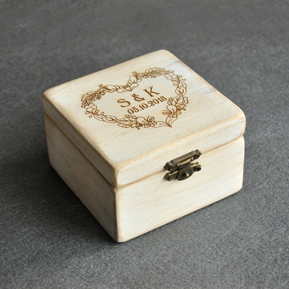 Custom wedding ring box weddingsringsnet for Personalized wedding rings