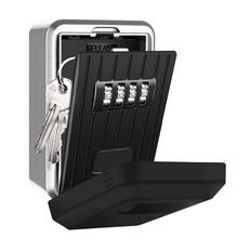 Wall Mounted Key Storage Organizer Boxes with 4 Digit Combination Lock Spare alloy house cards Key Box Metal Secret Safety Box wall mounted key storage organizer boxes with 4 digit combination lock spare keys organizer boxes metal secret safe box car lock