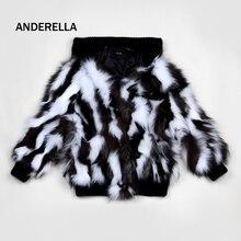 Двухцветный натуральной лисы пальто с мехом новый стиль женщин модная короткая одежда Съемная большие нагрудные дамы пальто с длинными рукавами