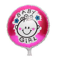 2pcs 18 inch Baby Girl  Baby Shower air balloon Helium Foil Balloons 1th Baby Girl Birthday Party Decorations Classic Toys