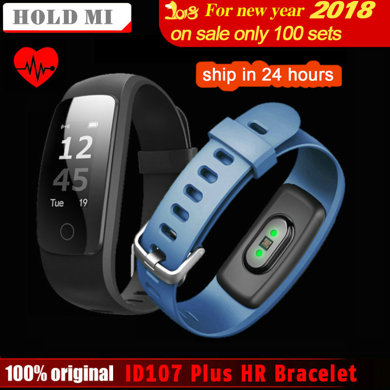 Tenir Mi ID107 Plus RH Smart Bande Fitness Bluetooth Bracelet Activité Sportive Tracker Bracelet avec Coeur Taux Tracker