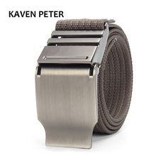 Canvas Waist Belt Casual Solid Color Webbing Waistband Military Equipment Army Belt Outdoor Practical Ceintures 3.8 CM