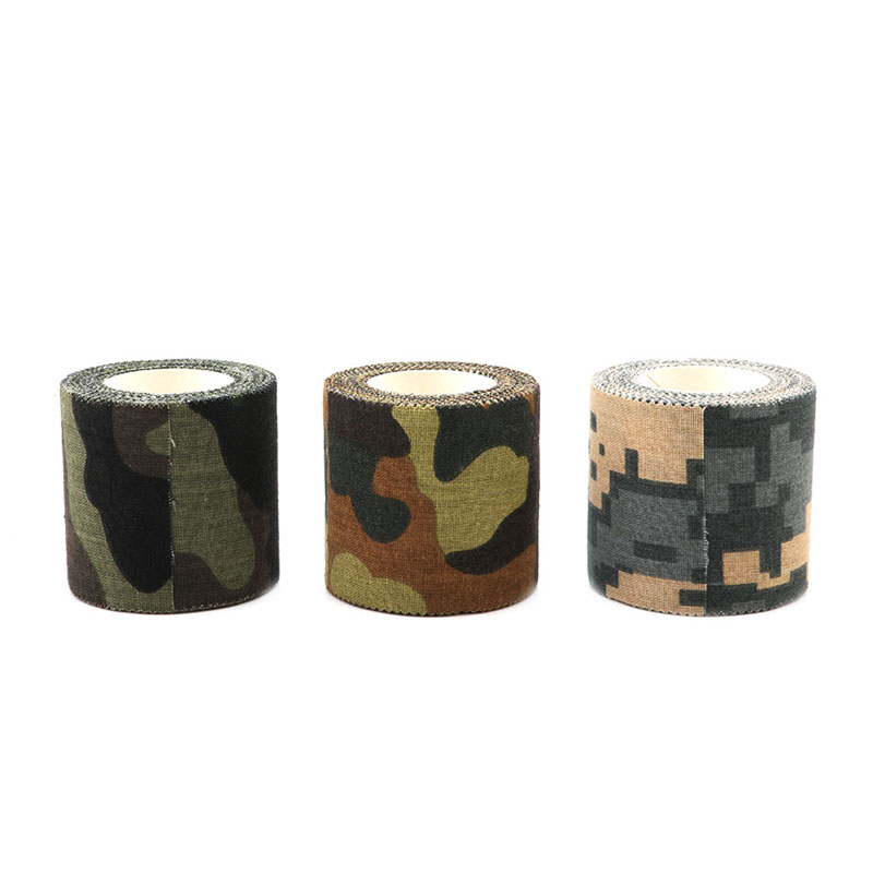 KLV Self adhesive Non woven Camouflage Cohesive Camping Hunting Camo Stealth Tape 5M Adhesive tape in Hunting Ghillie Suits from Sports Entertainment