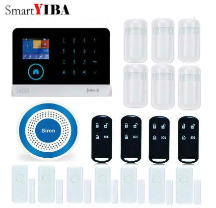 SmartYIBA Wireless WIFI GSM RFID Home Security System Burglar font b Alarm b font Wireless Strobe