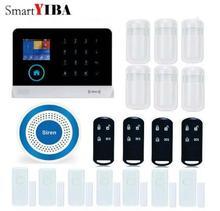 SmartYIBA Wireless WIFI GSM RFID Home Security System Burglar Alarm Wireless Strobe Siren Door Window PIR Motion Sensor APP