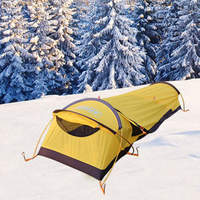 Waterproof PU5000mm Ultralight 1 Person camping tent Fast Easy install 240T polyester B1 204