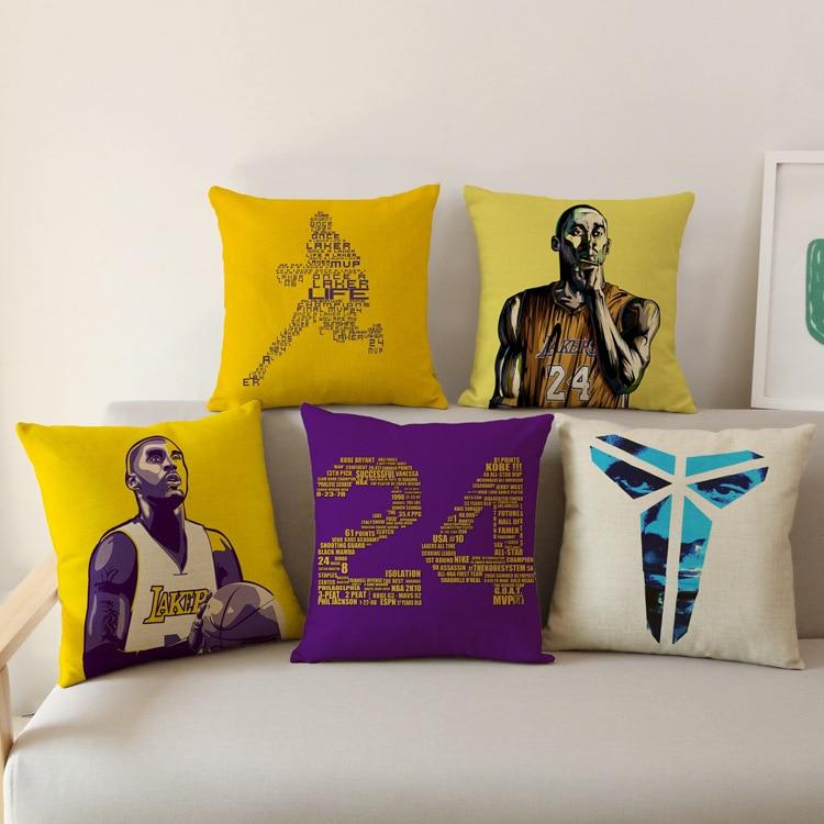 Современные декоративные NBA Баскетбол звезда Коби Bean Брайант Лос-Анджелес Лейкерс печ ...