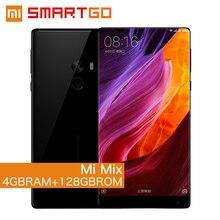 Оригинал Сяо Mi Mix мобильный телефон Snapdragon 821 4 ГБ Оперативная память 128 ГБ Встроенная память 6.4 «2040×1080 P FHD edgeless Дисплей