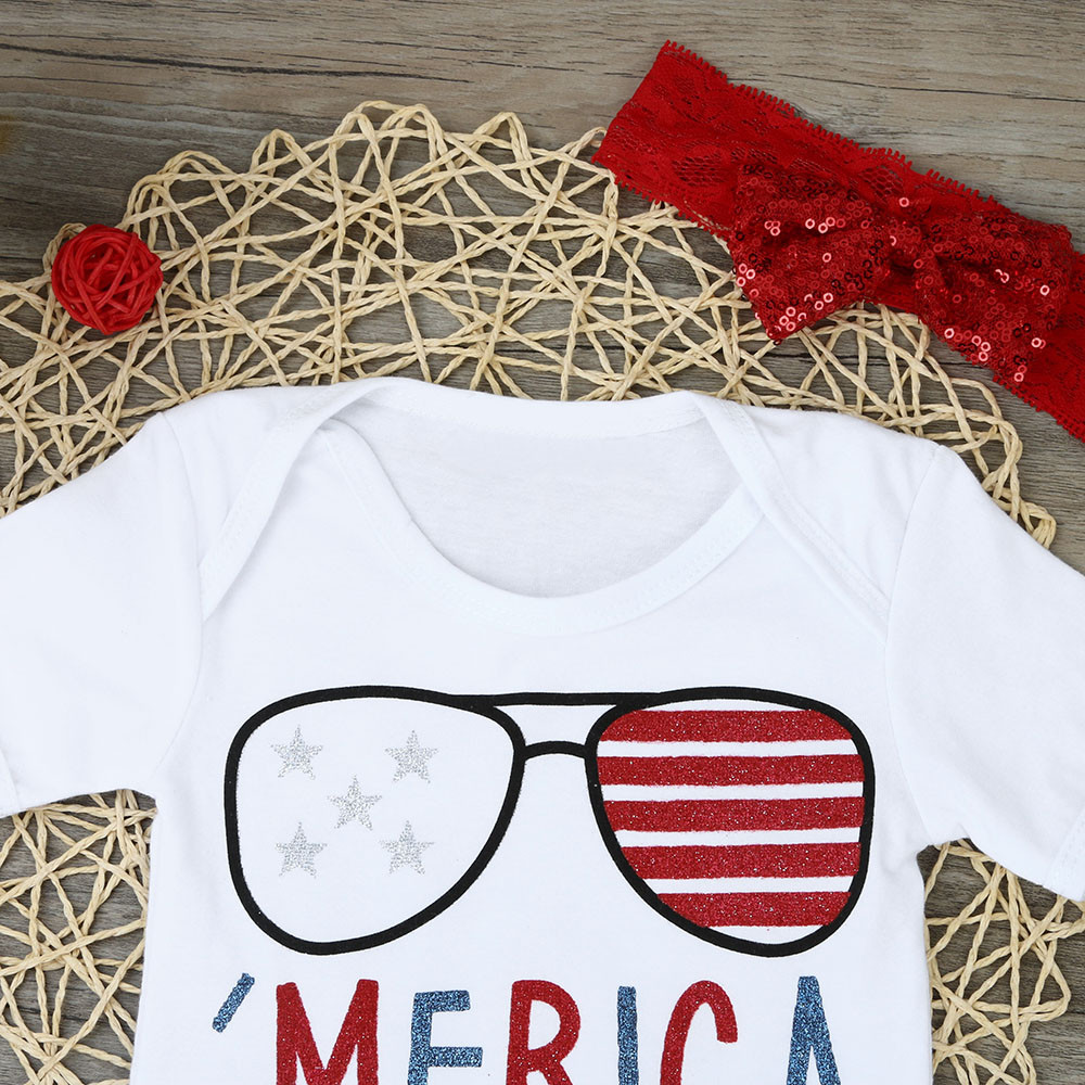 881e73aa23ee Newborn Baby Girl 4th Of July Patriotic Romper Shorts Pants Clothes Outfits  Set child girl clothes costume for the boy-in Clothing Sets from Mother    Kids ...