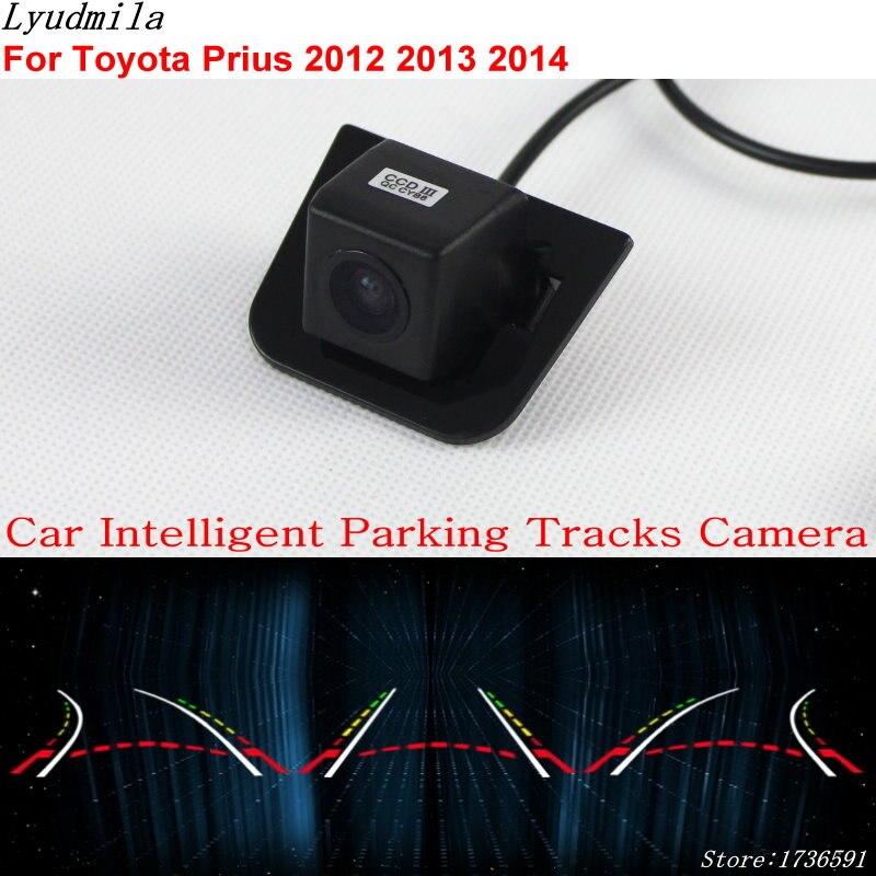 Lyudmila Car Intelligent Parking Tracks Camera FOR Toyota Prius 2012 2013 2014 Car Back up Reverse